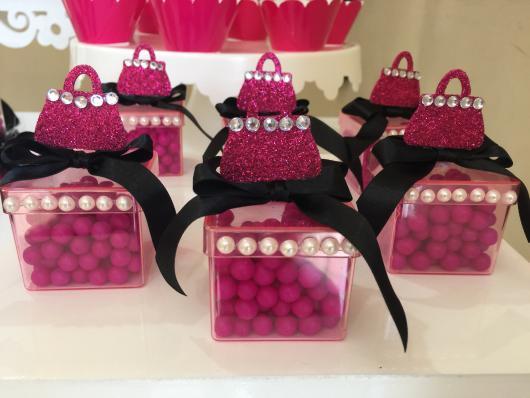 Festa da Barbie lembrancinha de caixinha de acrílico
