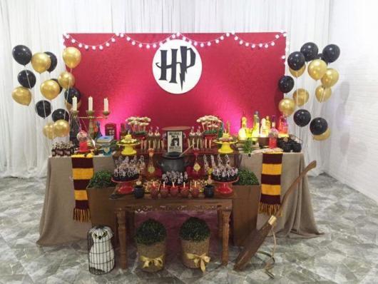 Festa Harry Potter decoração com balões