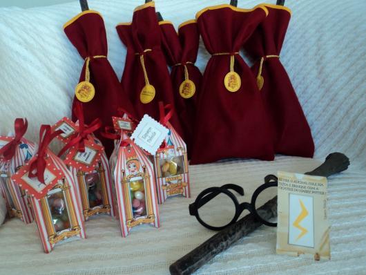 Festa Harry Potter lembrancinha caixinha e saquinho surpresa