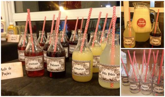 Festa Harry Potter bebidas decorativas