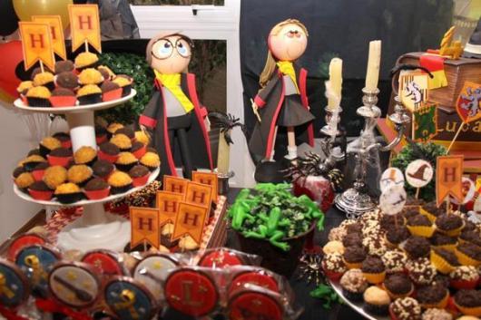Festa Harry Potter modelo de decoração de mesa