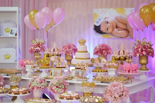 Festa Princesa com painél de foto da aniversariante