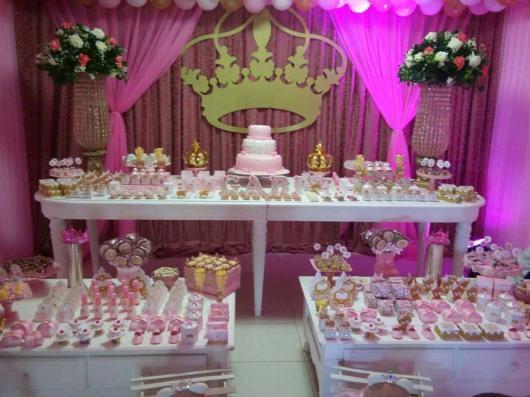 Festa Princesa de luxo com painél de MDF