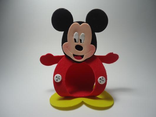 Lembrancinhas do Mickey porta bombom de EVA