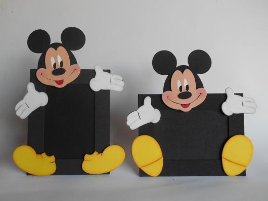 Lembrancinhas do Mickey porta retrato de EVA