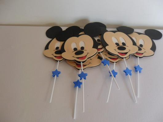 Lembrancinhas do Mickey fantoche de palito