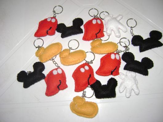 Lembrancinhas do Mickey chaveiro de feltro