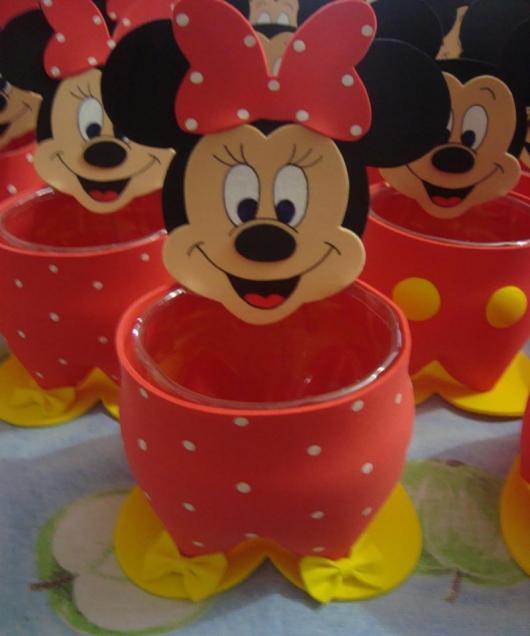 Lembrancinhas do Mickey garrafa pet porta trecos
