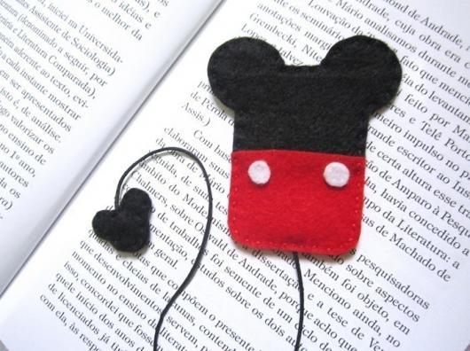 Lembrancinhas do Mickey marca página de feltro