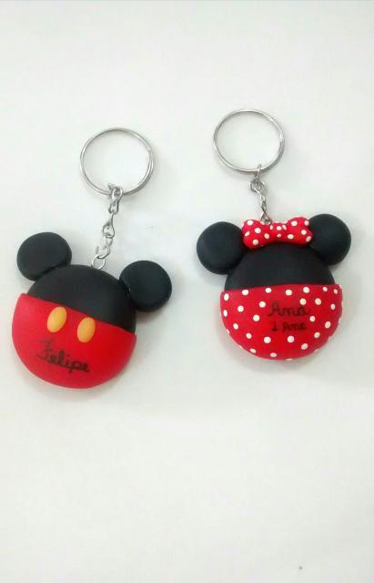Lembrancinhas do Mickey chaveiro de biscuit