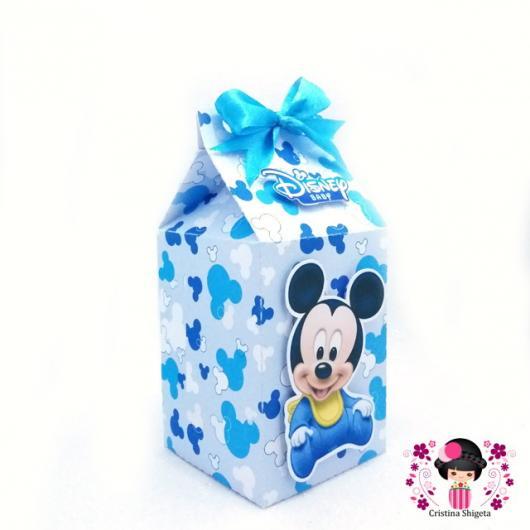 Lembrancinhas do Mickey baby caixinha de leite personalizada