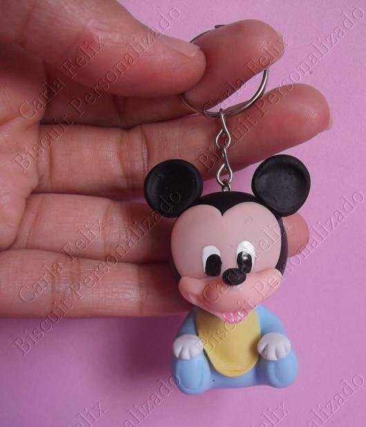 Lembrancinhas do Mickey baby chaveiro de biscuit