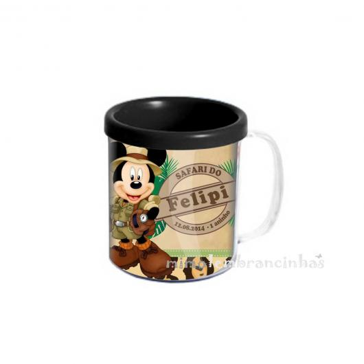 Lembrancinhas do Mickey afari caneca peronalizada