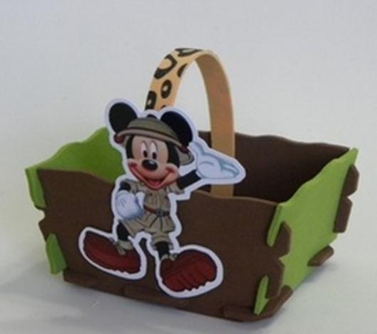 Lembrancinhas do Mickey safari baleiro de EVA