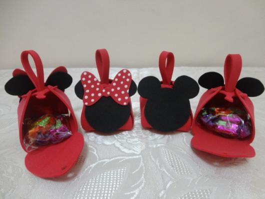 Lembrancinhas do Mickey de EVA porta balas