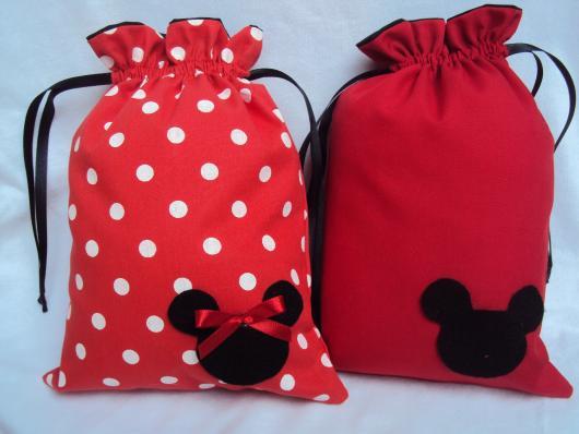 Lembrancinhas do Mickey e Minnie saquinho surpresa