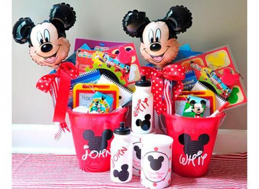 Lembrancinhas do Mickey balde personalizado