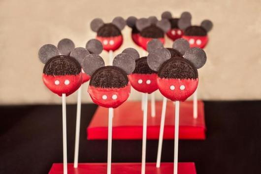 Lembrancinhas do Mickey simples pirulito de bolacha peronaliado