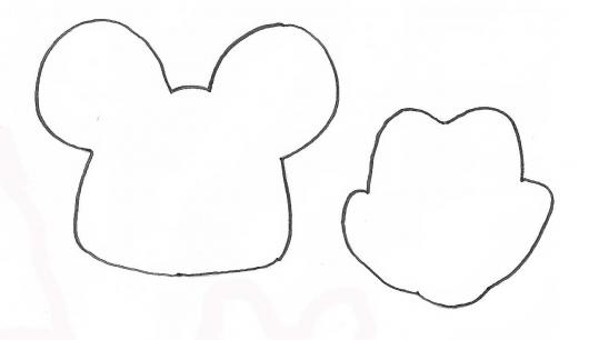 Molde Para Imprimir De Laco Lonita De Cilicone: Molde Mickey Mouse T