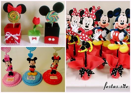 Lembrancinhas do Mickey modelos Mickey e Minnie