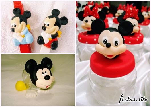 Lembrancinhas do Mickey modelos de biscuit