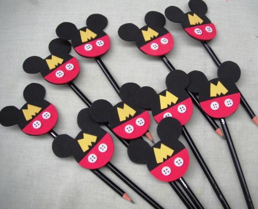 Lembrancinhas do Mickey ponteira de lápis de EVA