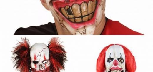 máscaras de palhaço do mal