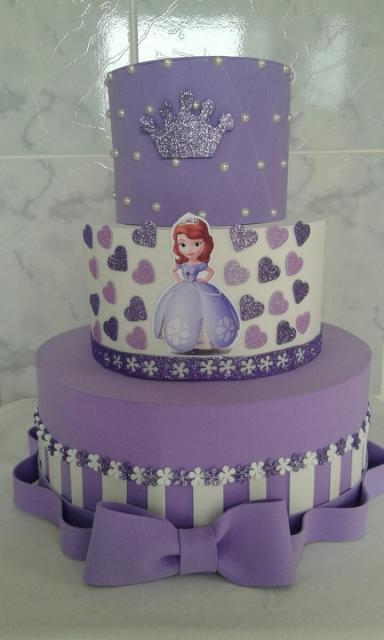 bolo fake princesa sofia decoração