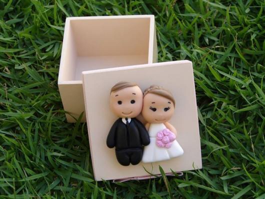 caixinha de MDF casamento