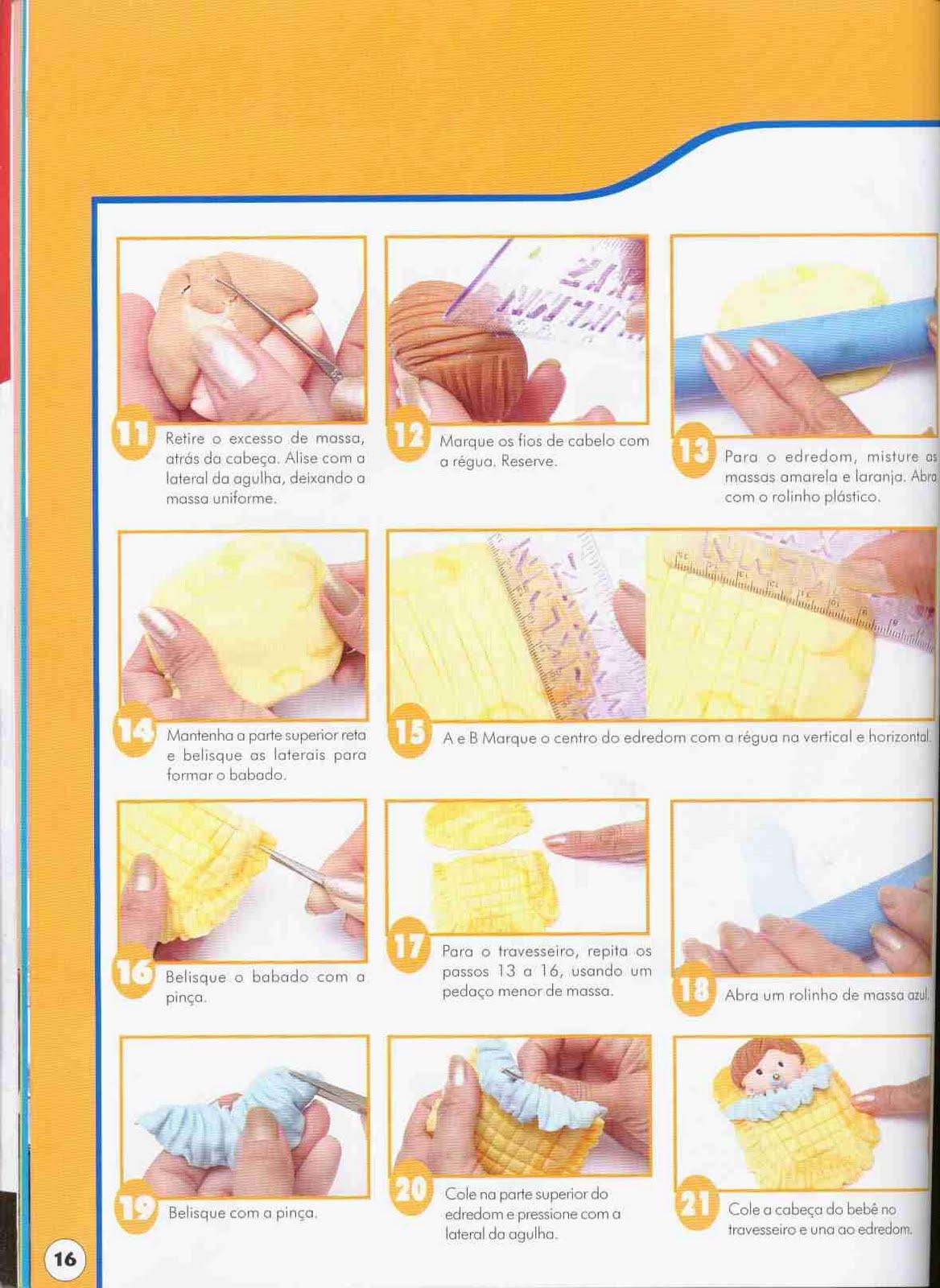 como fazer bebê de biscuit