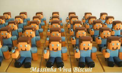 lembrancinha festa Minecraft