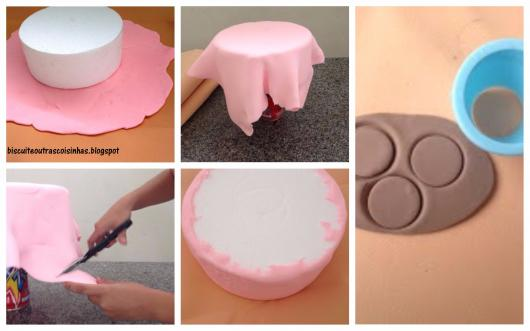 como fazer bolo fake