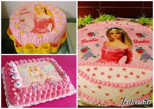 Bolo da Barbie modelos com chantilly simples