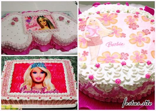 Bolo da Barbie modelos com chantilly e papel de arroz