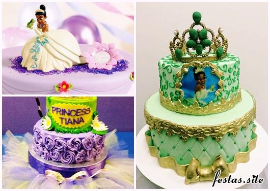 Bolo de Princesa modelos Princesa Tiana