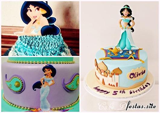 Bolo de Princesa modelos Jasmine