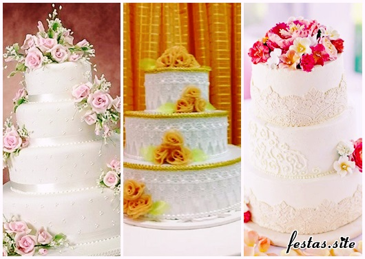 Bolo Fake Casamento de tecido modelos
