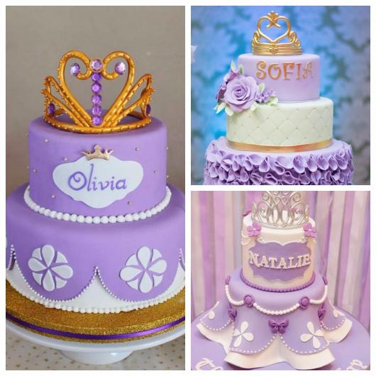 bolo fake princesa sofia feito de biscuit