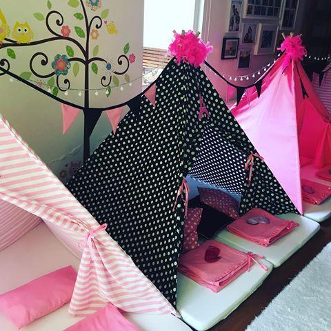 cabana com lençol decorada