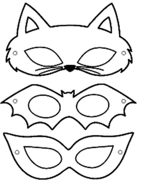 Moldes de Máscaras de Carnaval para Imprimir Grátis de Animais