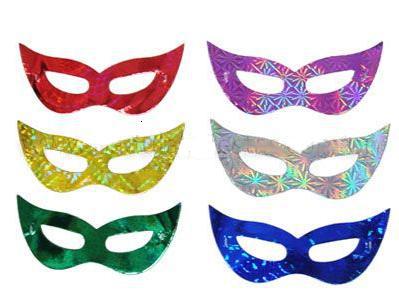 Como Fazer Máscara de Carnaval de papel laminado