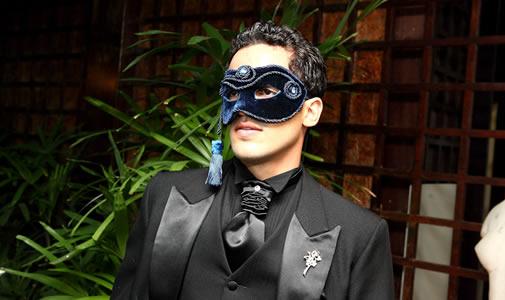 Como Fazer Máscara de Carnaval Veneza masculina