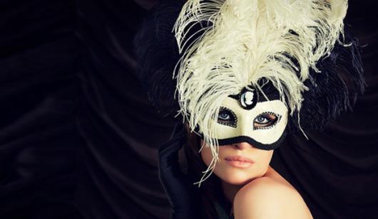 Como Fazer Máscara de Carnaval Veneza branca e azul