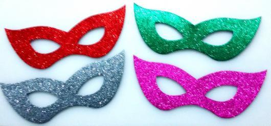 Como Fazer Máscara de Carnaval de EVA com glitter