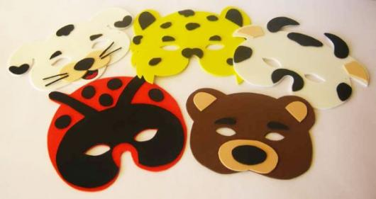 Como Fazer Máscara de Carnaval de EVA com formato de animais