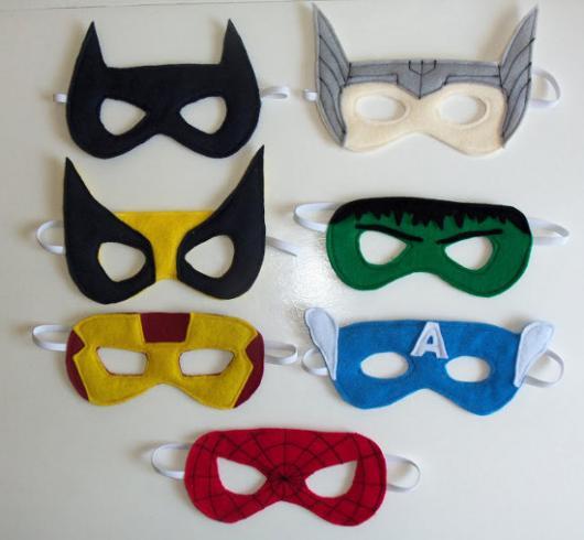 Como Fazer Máscara de Carnaval de EVA de super Heróis