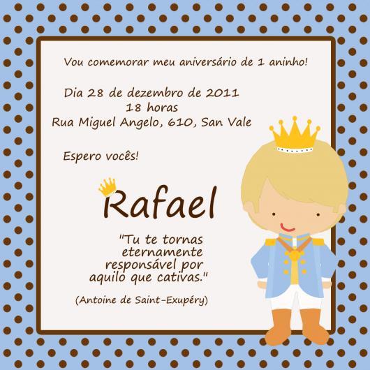 Convites Chá de Bebê Pequeno Príncipe