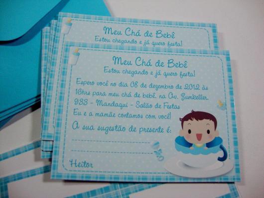 Convites Chá de Bebê Simples