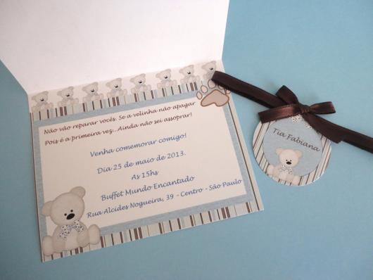 Convites Chá de Bebê Criativo no estilo cartão