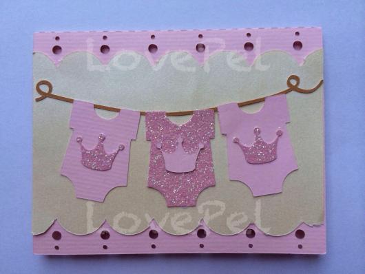 Convites Chá de Bebê Princesa com Coroa
